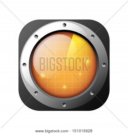 radar icon isolated on white background vector ilustration