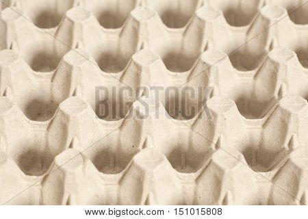 Cardboard containers for eggs. Carton of eggs background