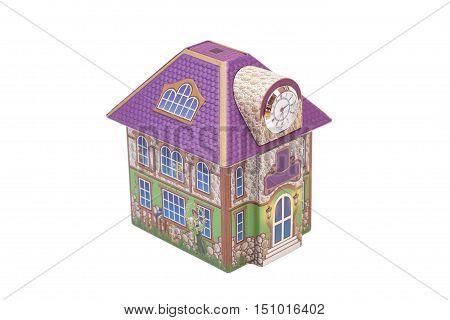 Model of house isolated on white background