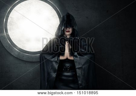 Witch Wearing Black Hood