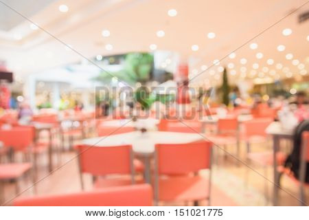 Abstract blur restaurant in the supermarket background