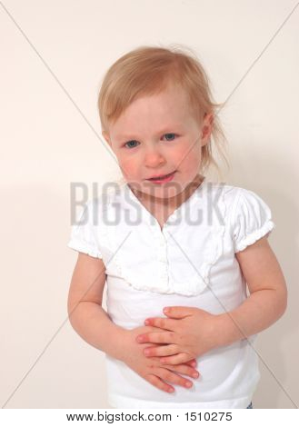 Girl With Hands On Belly