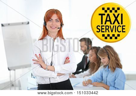 Call center operators of taxi service