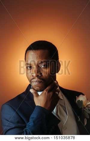 Handsome African American Groom