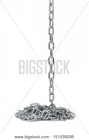 Chain heap isolated on white background