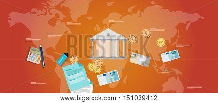 financial governance banking money regulation government bond vector