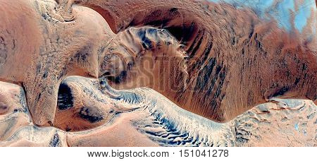 sea bottom,mirage in the Sahara desert,abstract photography deserts of Africa from the air, abstract surrealism,waves in the desert, fantasy in the desert dunes,landscapes of deserts,imaginary shapes