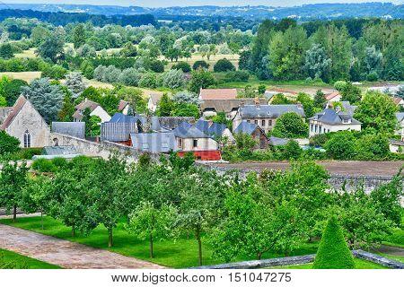 Saint Martin de Boscherville France - june 22 2016 : the small village in summer