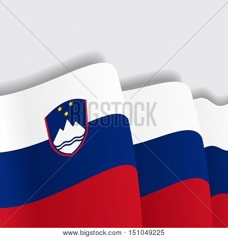 Slovenian waving Flag. Vector illustration Eps 8
