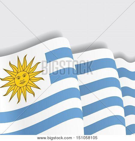 Uruguayan waving Flag. Vector illustration Eps 8