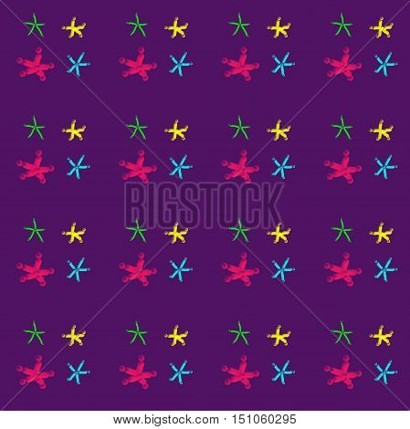 Beautiful bright stars on a violet sky. Abstraction of height and different worlds, large and small.