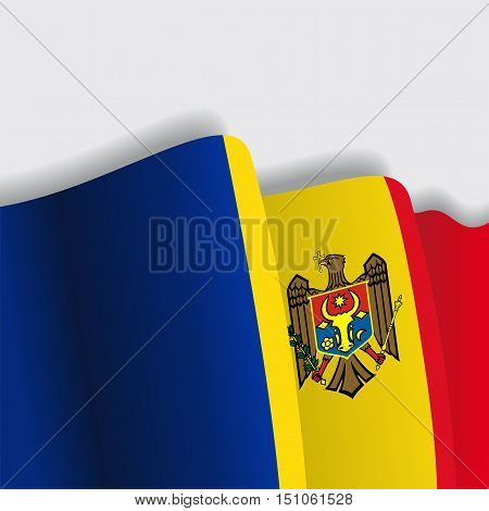 Moldovan waving Flag. Vector illustration Eps 8