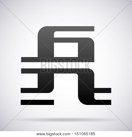 Letter A logo icon design template element