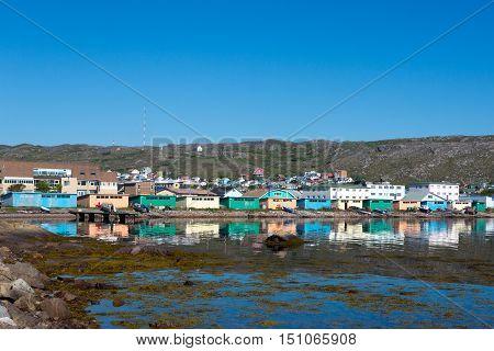 Fish storage, salt houses, Saint Pierre, France.