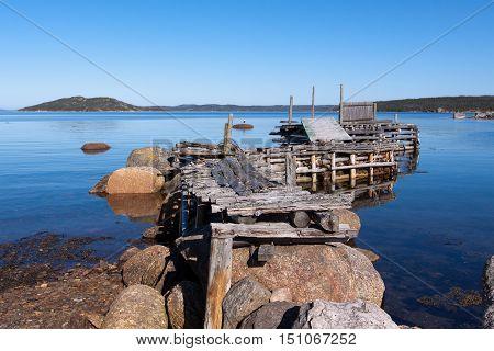 Old abandoned wharf, Newfoundland and Labrador, Canada.
