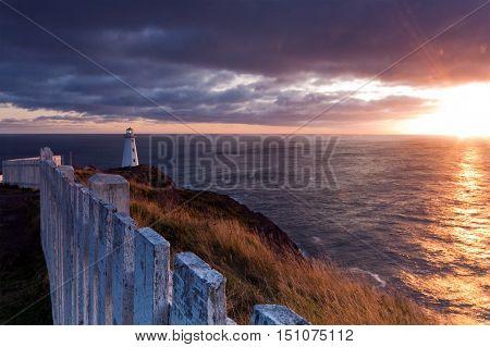 Cape Spear lighthouse Newfoundland and Labrador Canada.