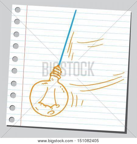Idea lamp pendulum