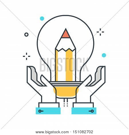 Color Line, Intellectual Property Illustration, Icon