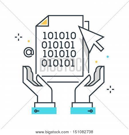 Color Line, Intellectual Property Illustration, Icon