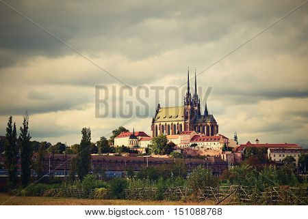 Petrov - St. Peters and Paul church in Brno. Central Europe Czech Republic. South-Moravian region.
