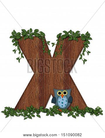 Alphabet Deep Woods Owl X