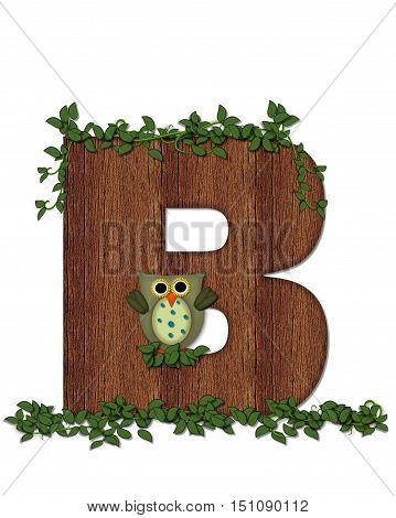 Alphabet Deep Woods Owl B