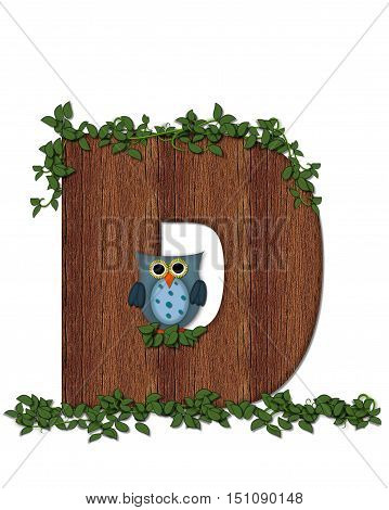 Alphabet Deep Woods Owl D