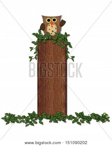 Alphabet Deep Woods Owl I