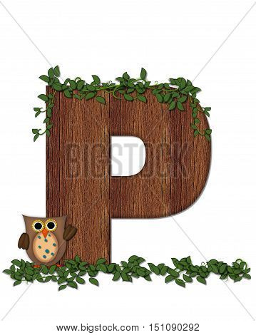 Alphabet Deep Woods Owl P