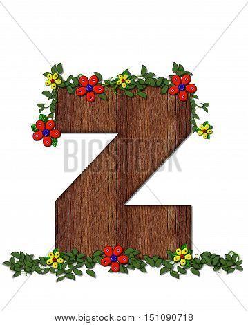Alphabet Woodland Flowers Z