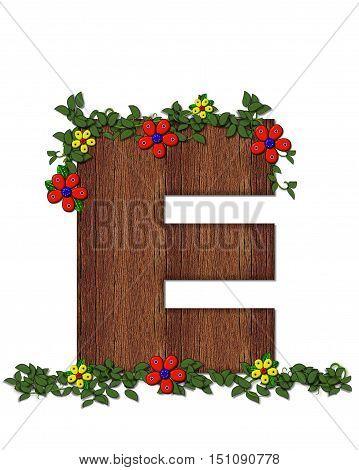 Alphabet Woodland Flowers E