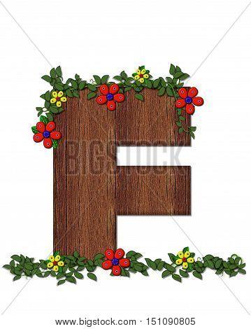 Alphabet Woodland Flowers F