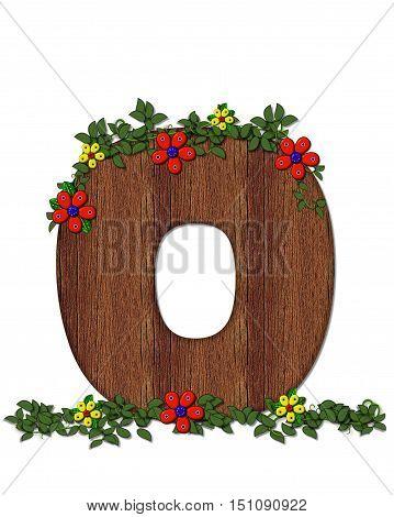 Alphabet Woodland Flowers O