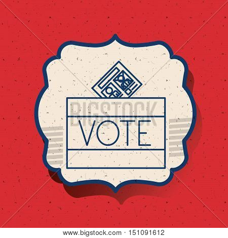 Box inside frame icon. Vote election nation and government theme. Silhouette design. Vector illustration