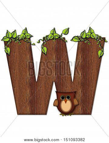 Alphabet Woodsy Owl W