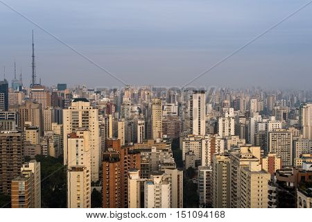 Endless View of Buildings in Sao Paulo City