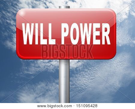 Will power of the mind or self dicipline or determination control thoughts 3D illustration