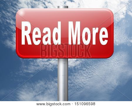 read more details and information road sign bilboard 3D illustration