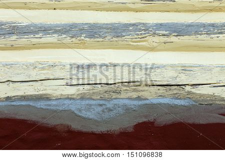 the structure of the plaster in yellow and brown