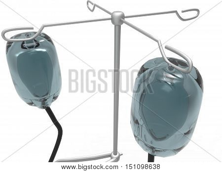 3d illustration of medicine dropper. isolated on white background