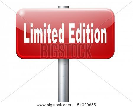 limited edition exclusive product and collecters item 3D illustration
