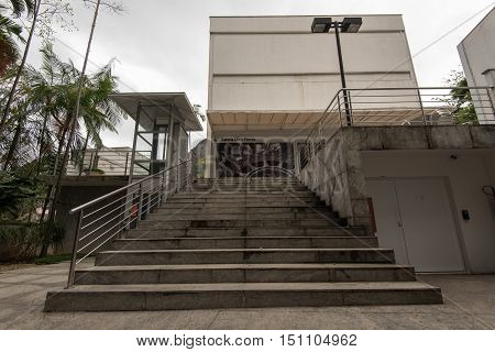 Rio de Janeiro, Brazil - September 27, 2016: Moreira Salles Institute (IMS) is a non-profit organisation which helps to develop and promote various cultural programs.