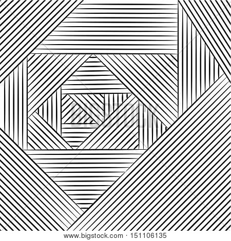 Geometric pattern. Zentangle isolated on white background. Hand drawn sketch for adult antistress coloring page T-shirt emblem logo or tattoo with doodle zentangle.