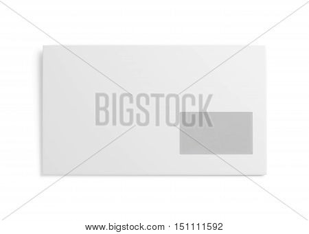 White Envelope Isolated On White Background. 3D Rendering