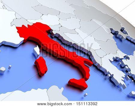 Italy On World Map