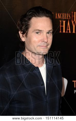 LOS ANGELES - OCT 9:  Henry Thomas at the Haunted Hayride 8th Annual VIP Black Carpet Event at the Griffith Park on October 9, 2016 in Los Angeles, CA