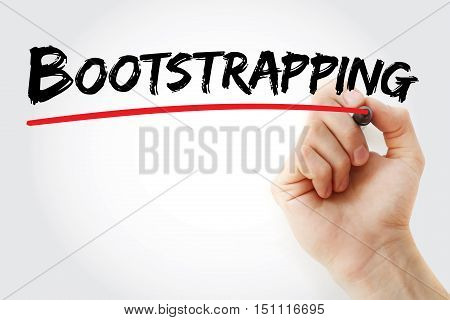 Hand Writing Bootstrapping With Marker