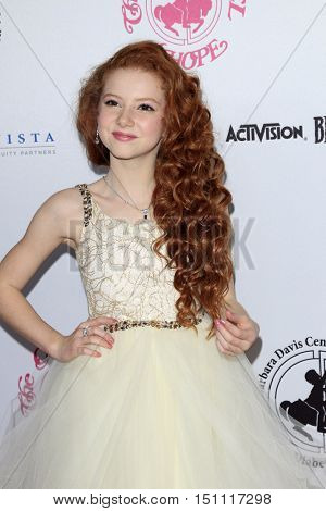LOS ANGELES - OCT 8:  Francesca Capaldi at the 2016 Carousel Of Hope Ball at the Beverly Hilton Hotel on October 8, 2016 in Beverly Hills, CA