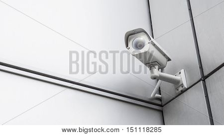 CCTV surveillance security camera equipment in tower home and house building on wall for safety system area control outdoor