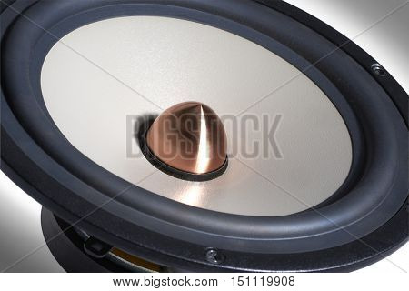 picture of a macro shot of a modern loudspeaker